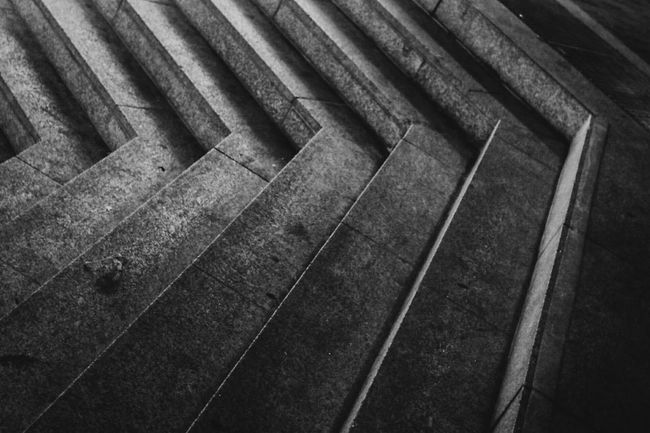 ~ 📏✴ ~ Full Frame Architecture Pattern Close-up Built Structure Backgrounds Concrete In A Row Repetition Outdoors Geometric Shape Curve No People Diminishing Perspective Shadows & Lights Light And Shadow Getting Inspired Night Monochrome Blackandwhite Symmetry Staircase EyeEm Best Shots Architectural Feature Monochrome Photography