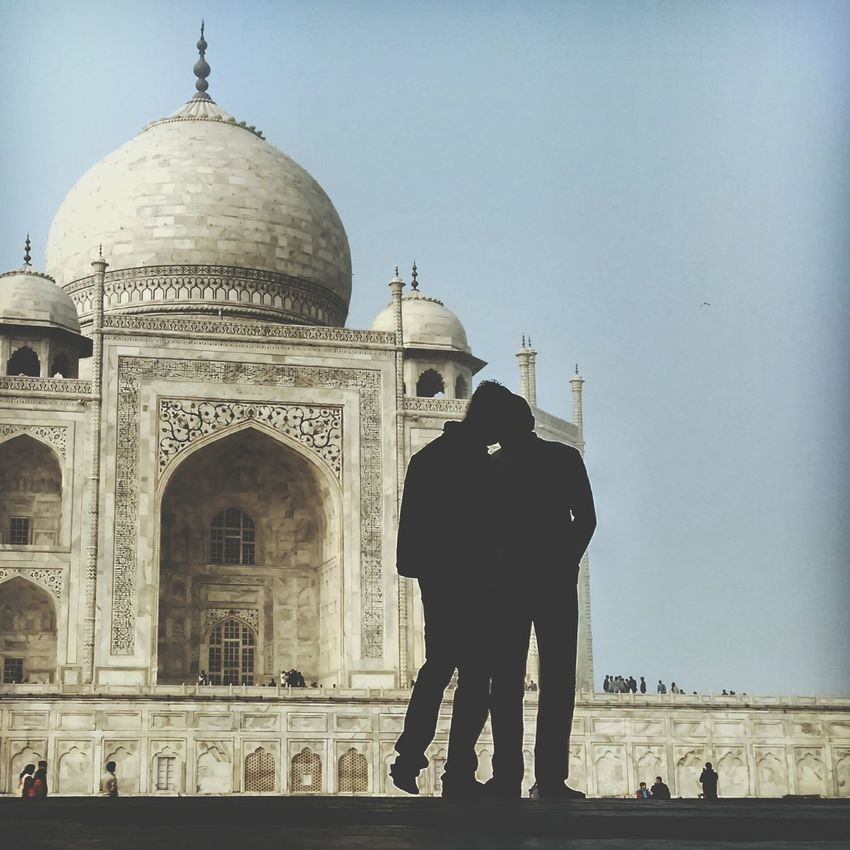 Everyday Joy Taj mahal, The symbol of love. Incredibleindia Travelphotography Love For Ever Lovers Indiapictures Tajmahal Historical Monuments India People Photography