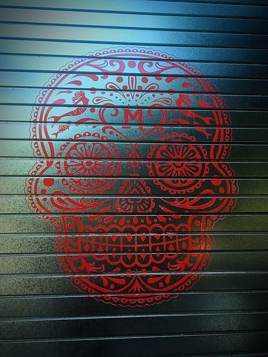Skull Day Of The Dead Skull Close-up Outdoors No People Pattern Architecture Steel Gate Industrial Metal