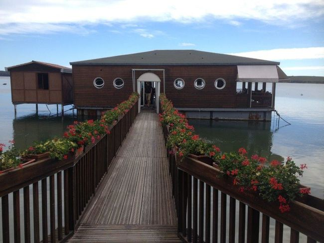 Outdoors Wood - Material Architecture Building Exterior Nature Water Corsica Fish Restaurant Lake Floating House