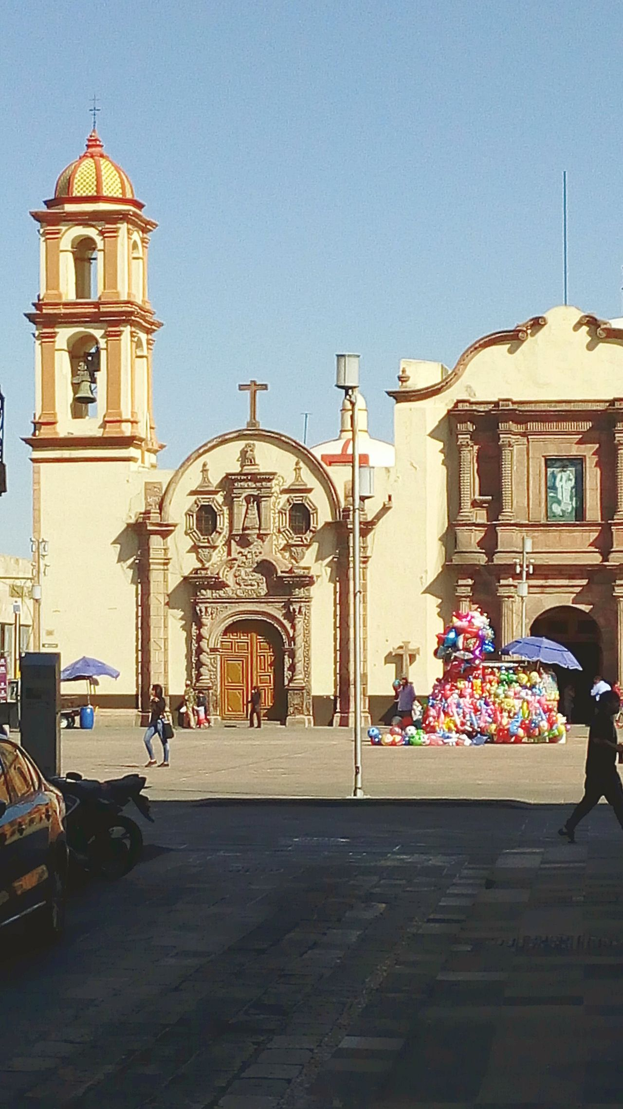 San Luis Potosí Plaza Fundadores Travel Destinations Travel City Architecture Vacations Clock Outdoors No People Day