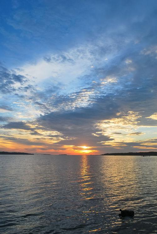 Beauty In Nature Bintan  Cloud - Sky Cloudscape Dramatic Sky Idyllic Majestic Moody Sky Nature Ocean Orange Color Rippled Scenics Sea Seascape Seinam Sun Sunset Water