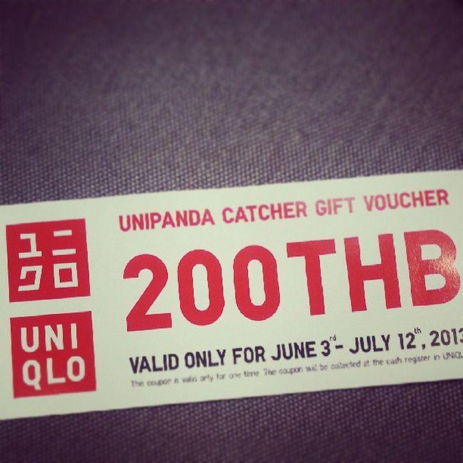ได้ voucher Uniqlothailand จากเกม Unipanda Catcher แล้ว อิอิ