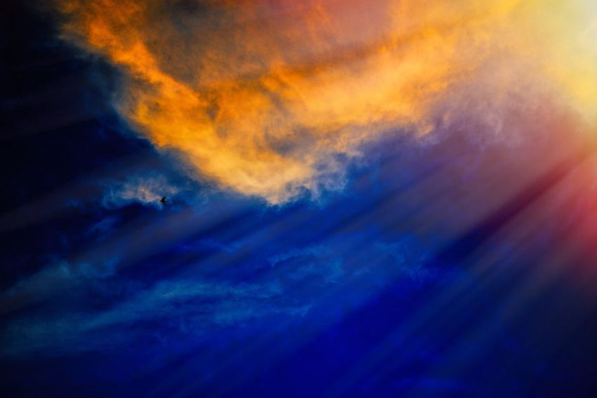 Colors in the sky Sky Cloud - Sky Low Angle View Dramatic Sky Outdoors Nature No People Beauty In Nature Blue Silhouette Full Frame Sunset Backgrounds Scenics Night Multi Colored Close-up