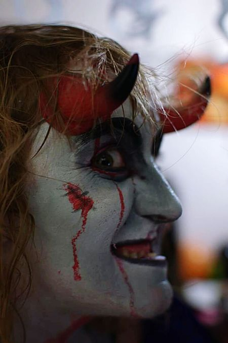 Mi otro yo Face Cara Halloween Carnaval Maquillaje Makeup Disfraz Miedo Terror Monstruo Cuernos Fear Yo I The Portraitist - 2016 EyeEm Awards