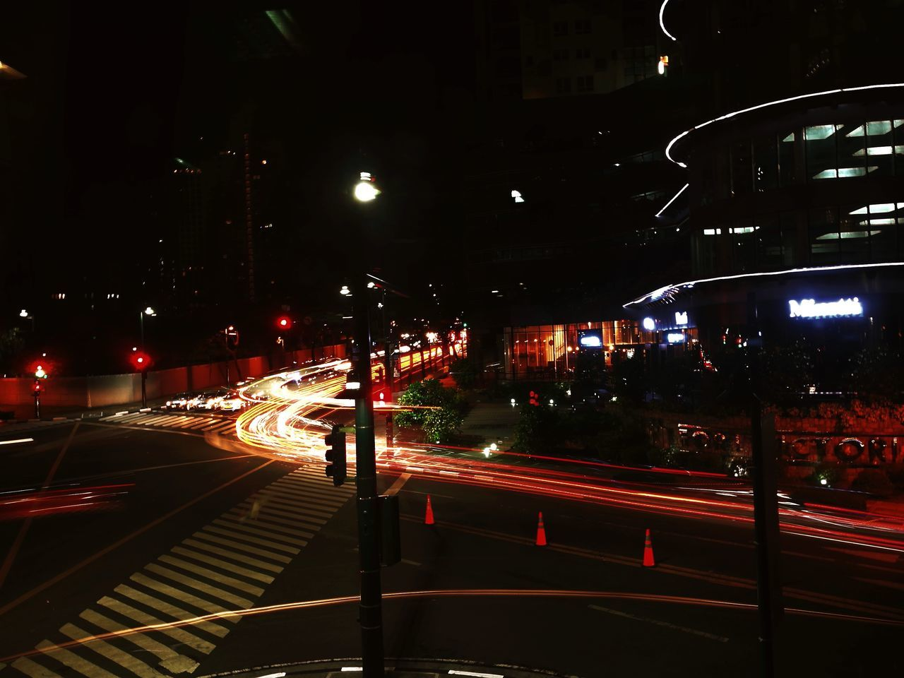 Night Illuminated City City Life Outdoors Street Light No People Architecture EyeemPhilippines Light And Shadow Cityscape Futuristic Business Finance And Industry City City Life Speed Long Exposure Light Trail Red