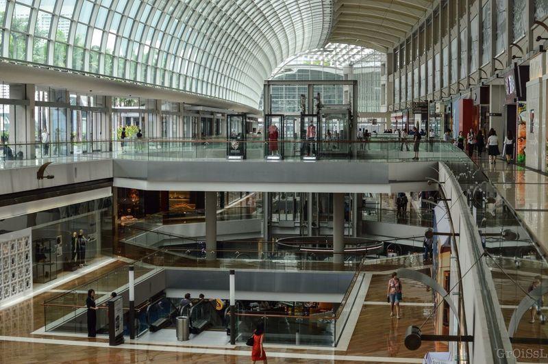 Singapore Architecture People Light