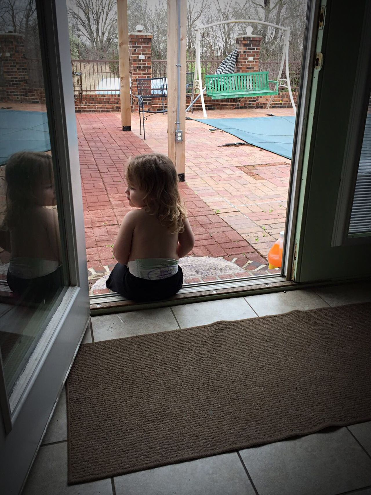 Child Indoors  Waiting On Dad Rear View One Person Work Day End Watching Maybe Grandpa Will Come Home First I'm Staying Inside Good Boy Day Patience Just Looking Outside I Won't Leave This Step! Promises