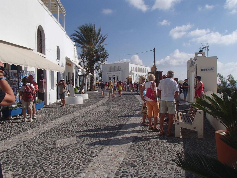 Mykonos Architecture Casual Clothing City Life Lifestyles Mykonos,Greece Mykonostown Outdoors Sunny Tourism Walkway