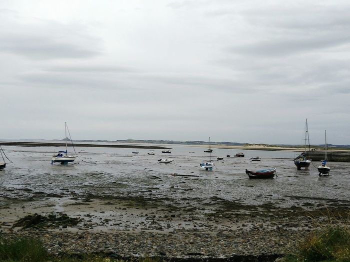 Sea Water Beach Nature Horizon Over Water Sky Outdoors Nautical Vessel Beauty In Nature Scenics Cloud - Sky No People Day Ships⚓️⛵️🚢 Holy Island Lindisfarne Island Mud Stuck Stranded