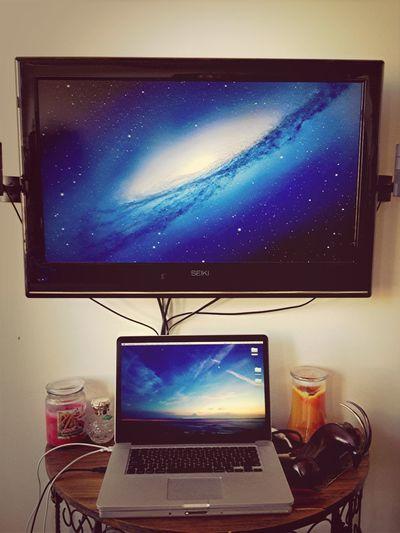 Sky and Stars Dual Monitor Setup