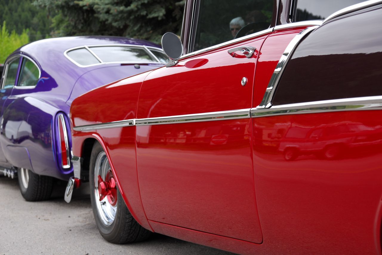Red Car Cars Old Car Car Collection USA Yellowstone Wyoming Adventure Enjoying Life Colores Colorful Colored