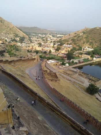 A view from top of amer fort , jaipur Monuments Aerial Photography Nature Photography Jaipur Palace