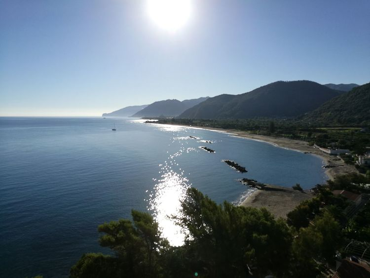 Nebrodi Sicily San Gregorio Sangregorio Capo D'Orlando Eolian Islands Isole Eolie Summer Vacations Sunlight Landscape Mountain Tranquil Scene Water Scenics Sea Travel Destinations No People Outdoors Tranquility Beach Vacations Nature Beauty In Nature Sky