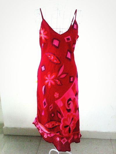 100% silk irregular hem dress Check This Out
