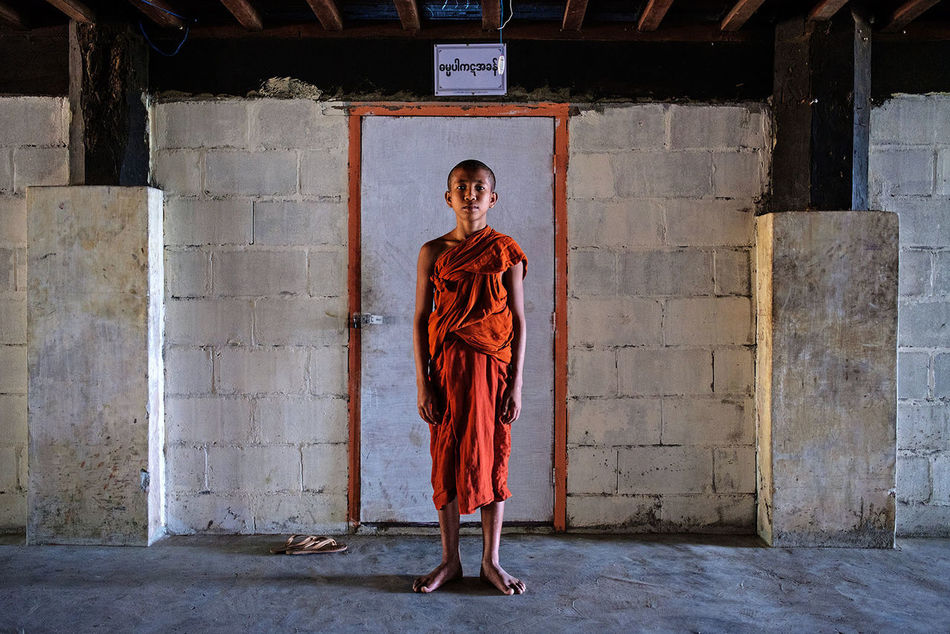 A young novice in a Buddhist monastery in Myeik, Myanmar. Another photo taken with a Fujifilm X-T2 camera during my recent stay in Myanmar. ASIA Travel Photography FUJIFILM X-T2 Fujifilm_xseries Myeik Monastery Myanmar Fujifilm Buddhism Portrait Novice Travel