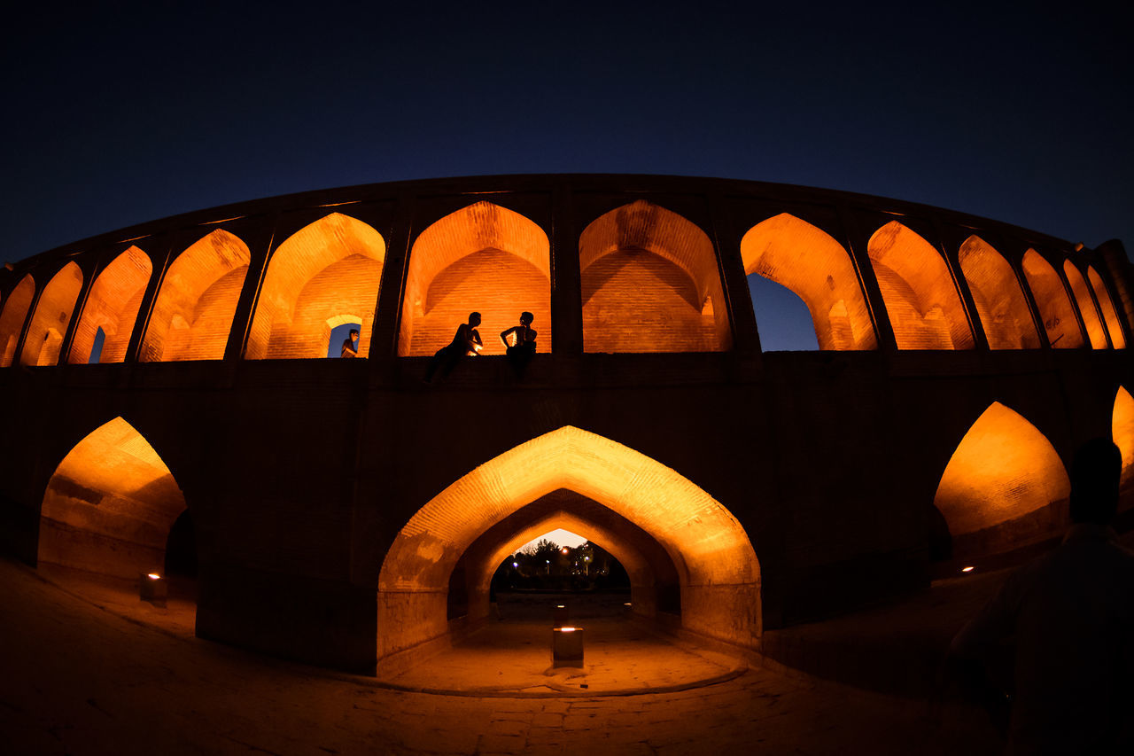 the historical stone bridge of 33 arches in isfahan, iran, september 15, 2016 Abbasi Arch Arches Architecture Architecture Bridge Built Structure Esfahan Historical Iran Safavid Seljuk Stone Bridge Structure Sun Sunlight Sunrise Sunset The Architect - 2017 EyeEm Awards