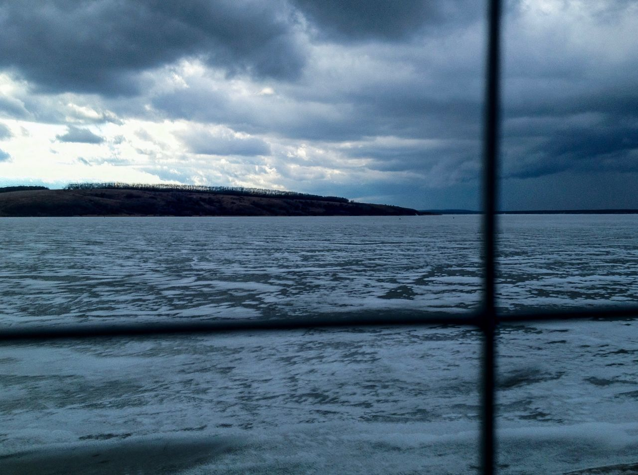 water, sea, sky, scenics, nature, beauty in nature, cloud - sky, tranquility, no people, tranquil scene, outdoors, wave, waterfront, day, cold temperature, storm cloud, horizon over water