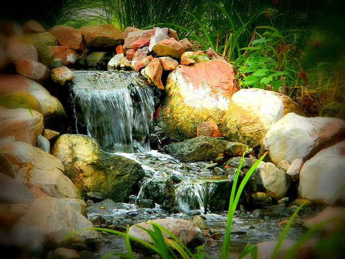 Day Flowing Flowing Water Nature Outdoors Rock Stone Stream Lincoln, Nebraska Lincoln,NE Lincoln Nebraska Photography In Motion