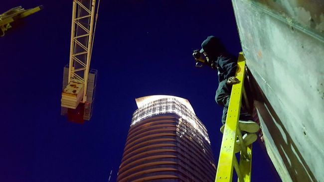 Shooter Rooftopping Blue Sky 5am Architecture Modern Night Illuminated Sky Dark Tall Outdoors Building Story Skyscraper Office Building Tall - High City Building Exterior Built Structure Low Angle View Toronto Toronto Landscape Taking Photos Rooftop Lakeshore