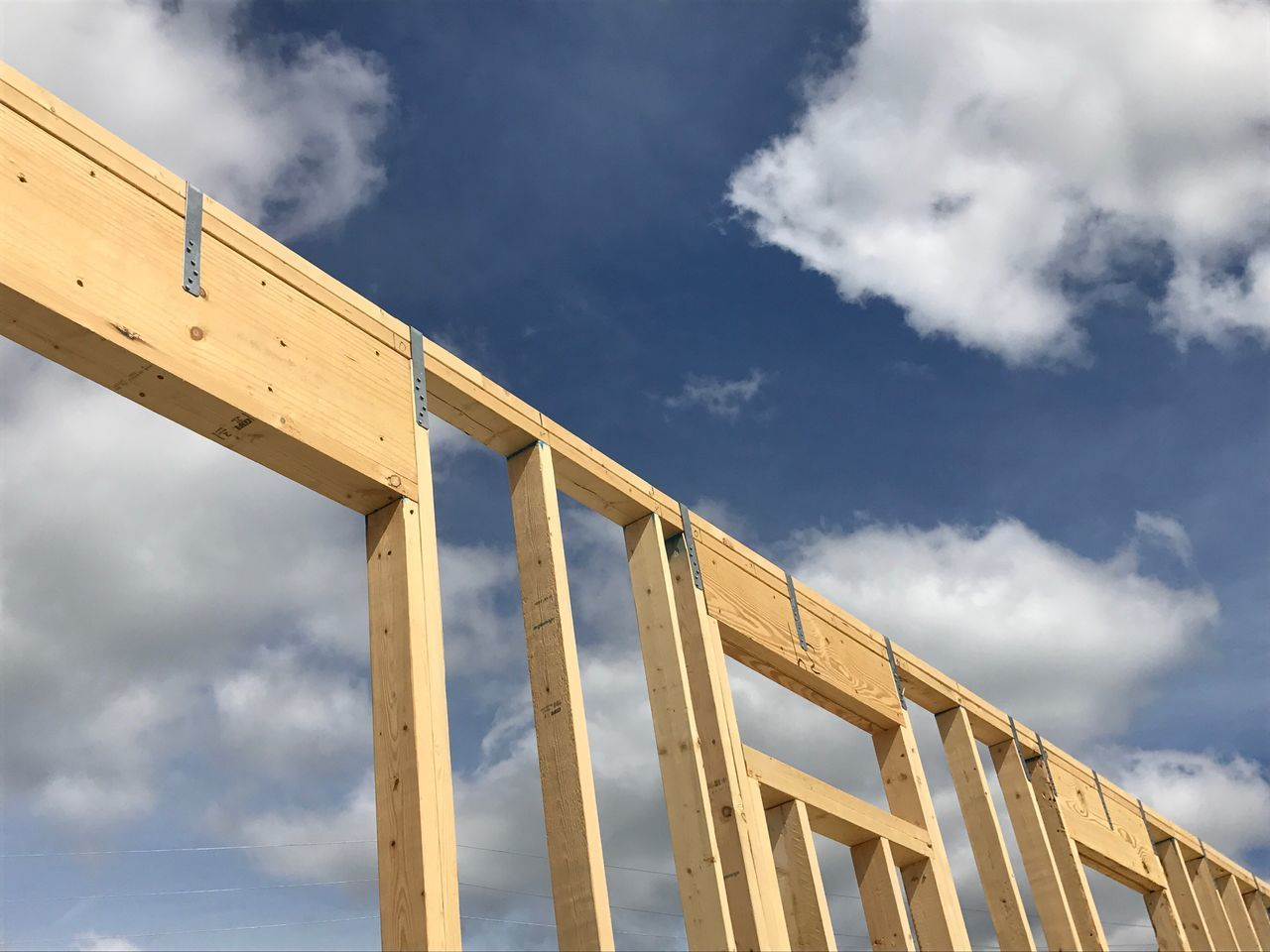 another New Home Being Built by Volunteers Sky Cloud - Sky Built Structure Architecture Low Angle View Day No People Outdoors