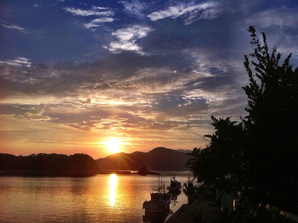 Relaxing Summer Sunset Ocean Afternoon Goto Island Nagasaki Sky