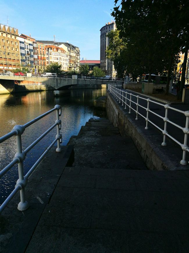 River City Water Bilbaolovers Taking Photos Colours Walking Around Basque Country