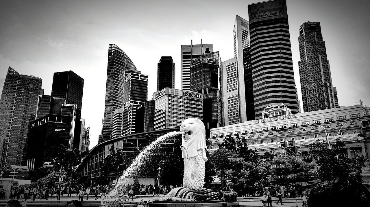 Skyscraper Modern Architecture Urban Skyline City Building Exterior Urban Skyline Downtown District Outdoors Business Finance And Industry No People Cloud - Sky Sky Day Cityscape Singapore Singapore View Singapore City Black & White Black And White Blackandwhite Cityscape Architecture City City Building Exterior