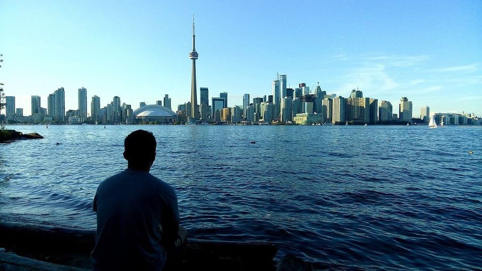 Toronto Toronto Landscape Toronto Skyline Toronto Islands Horizont  City Silhouette Urban Skyline Cityscape Outdoors Sky Vacations Day Modern Landscape Sea Water Beard Beach Portrait Life Healthy Close Up Technology Travel Trip Adapted To The City EyeEmNewHere Miles Away Uniqueness