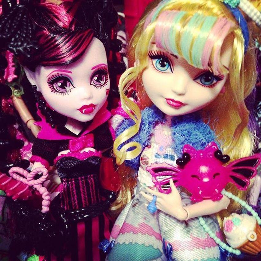 Blondie and Draculaura Eah Mh Monsterhigh EverAfterHigh Doll Dolls Justsweet Sweetscreams