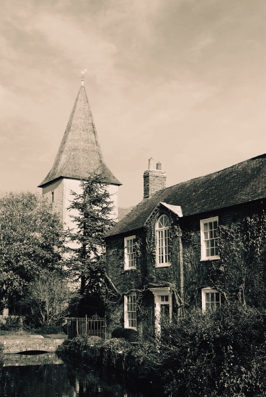 Old Buildings Stream Church Churches Blackandwhite Black And White Bosham Village Waterside Picturesque Picturesquevillages Street Scene
