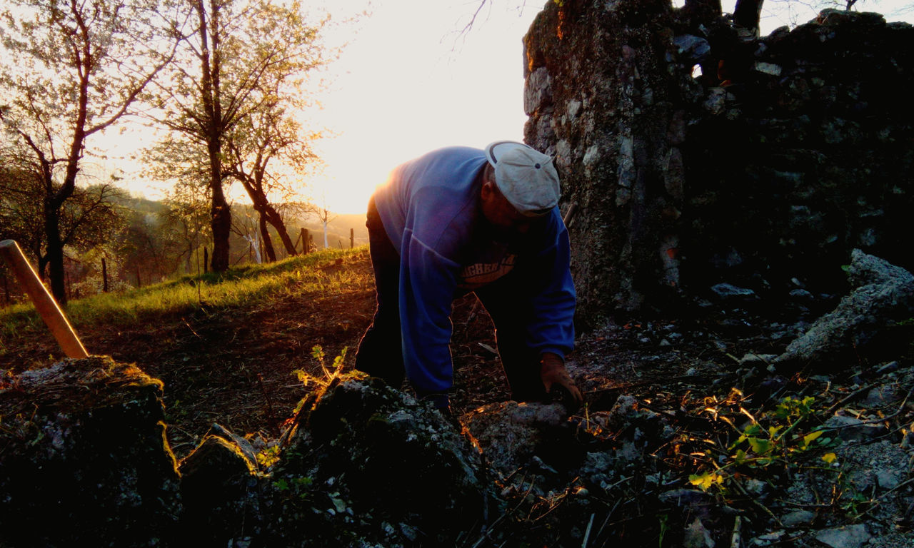 Sunset Rural Scene Adults Only Nature People Outdoors Adult Working Hard Working Hands Agriculture Real People Springtime Nature Non-urban Scene Sunset Silhouettes Work Resist