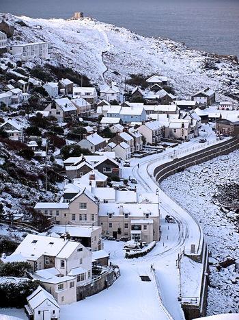 Sennen Cove Snow Cornwall