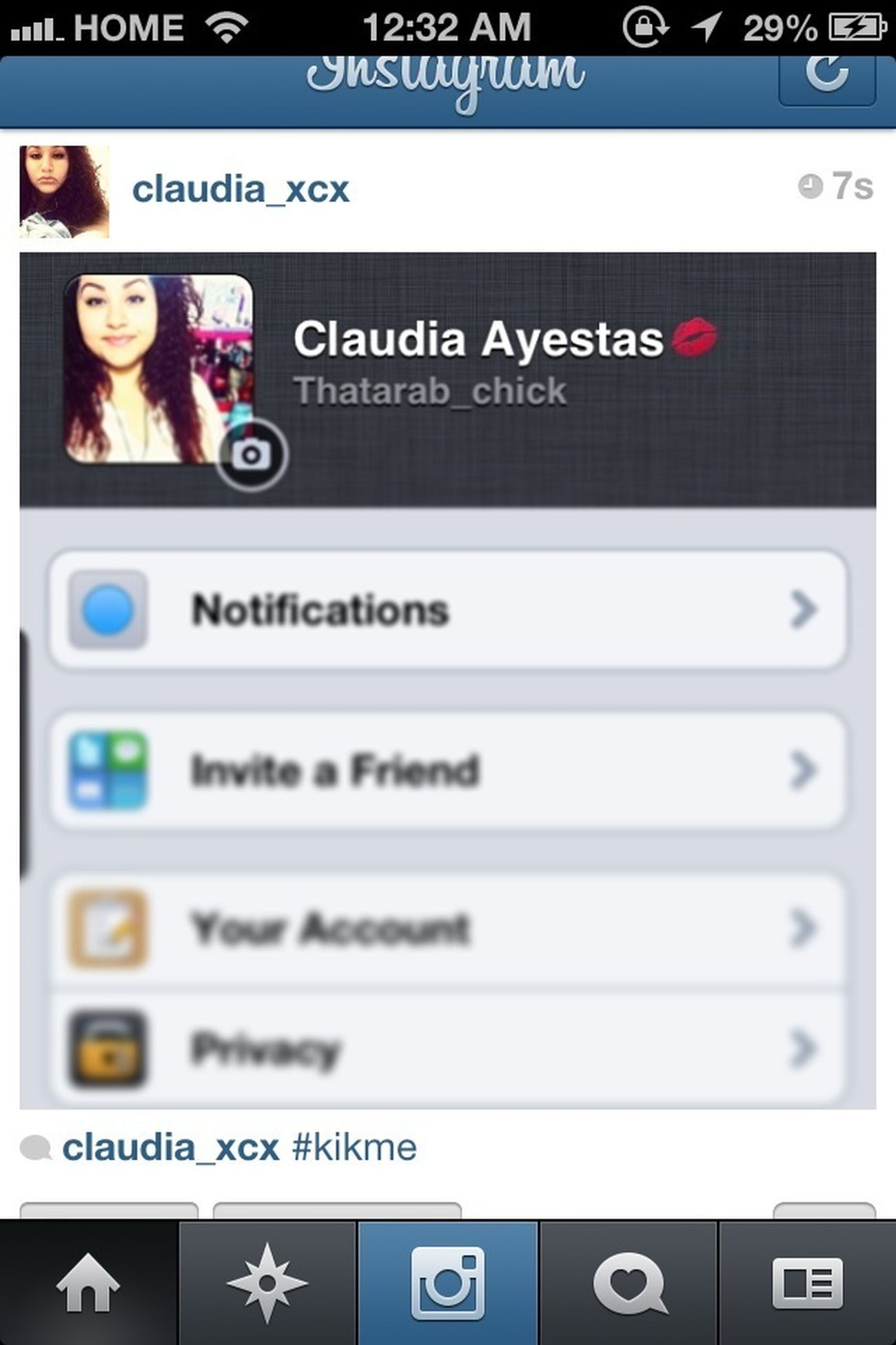 Kik me & follow ya girl on Instagram while ya at it