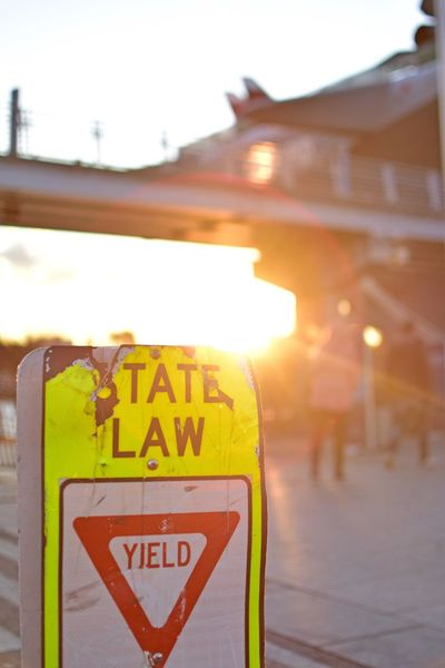 Hudson River Text Communication Yellow No People Illuminated Close-up Sign Sunset Enjoying Nature Enjoying The Sights Enjoying The View Enjoying The Sun Relaxing Travel Destinations Law Light Clear Sky Bright Sky Silhouette Enjoying Life Sunshining Sunshine Yield State Law