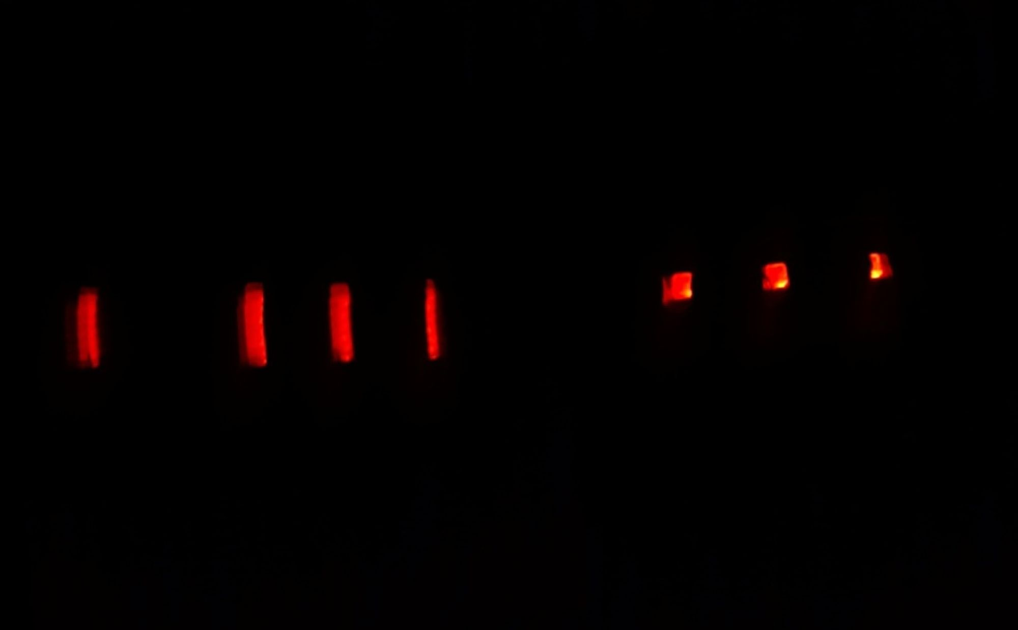 Brake Light At Night At Highway