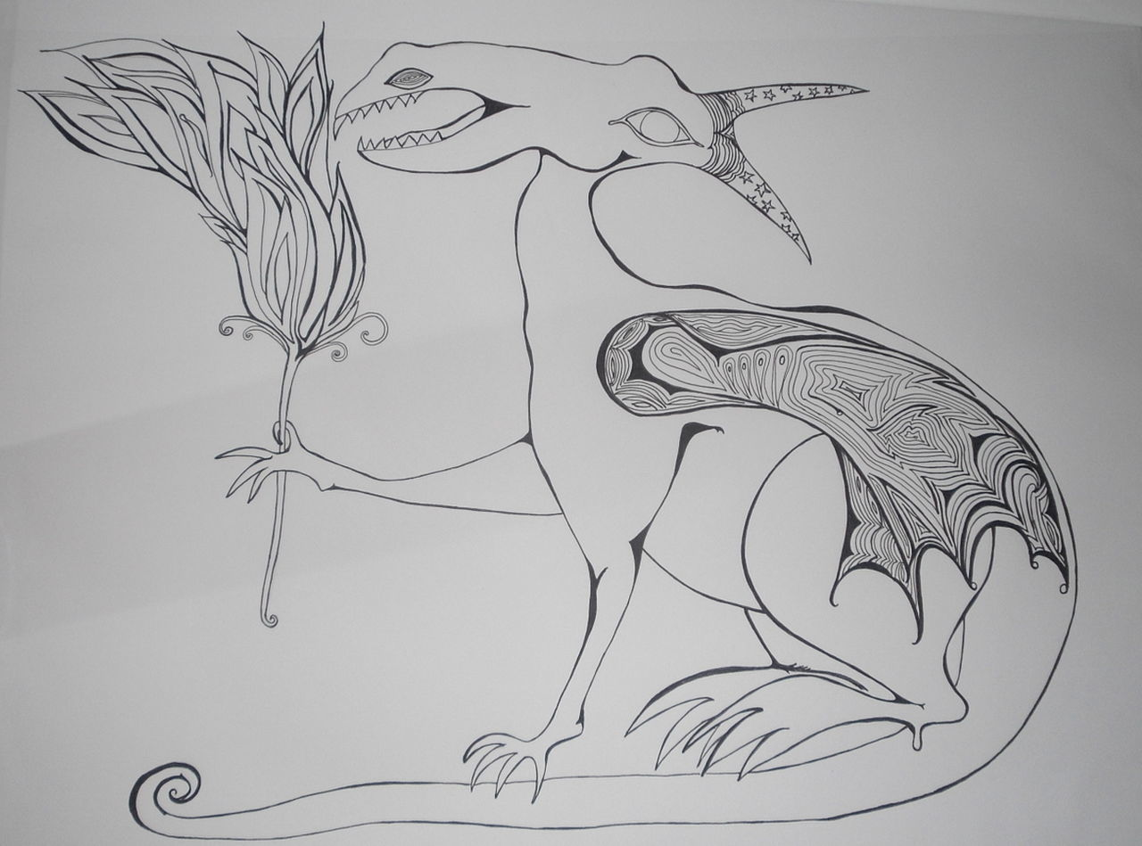Close-up Dragon Drawing - Art Product Indoors  Nature No People Picture Selfmade