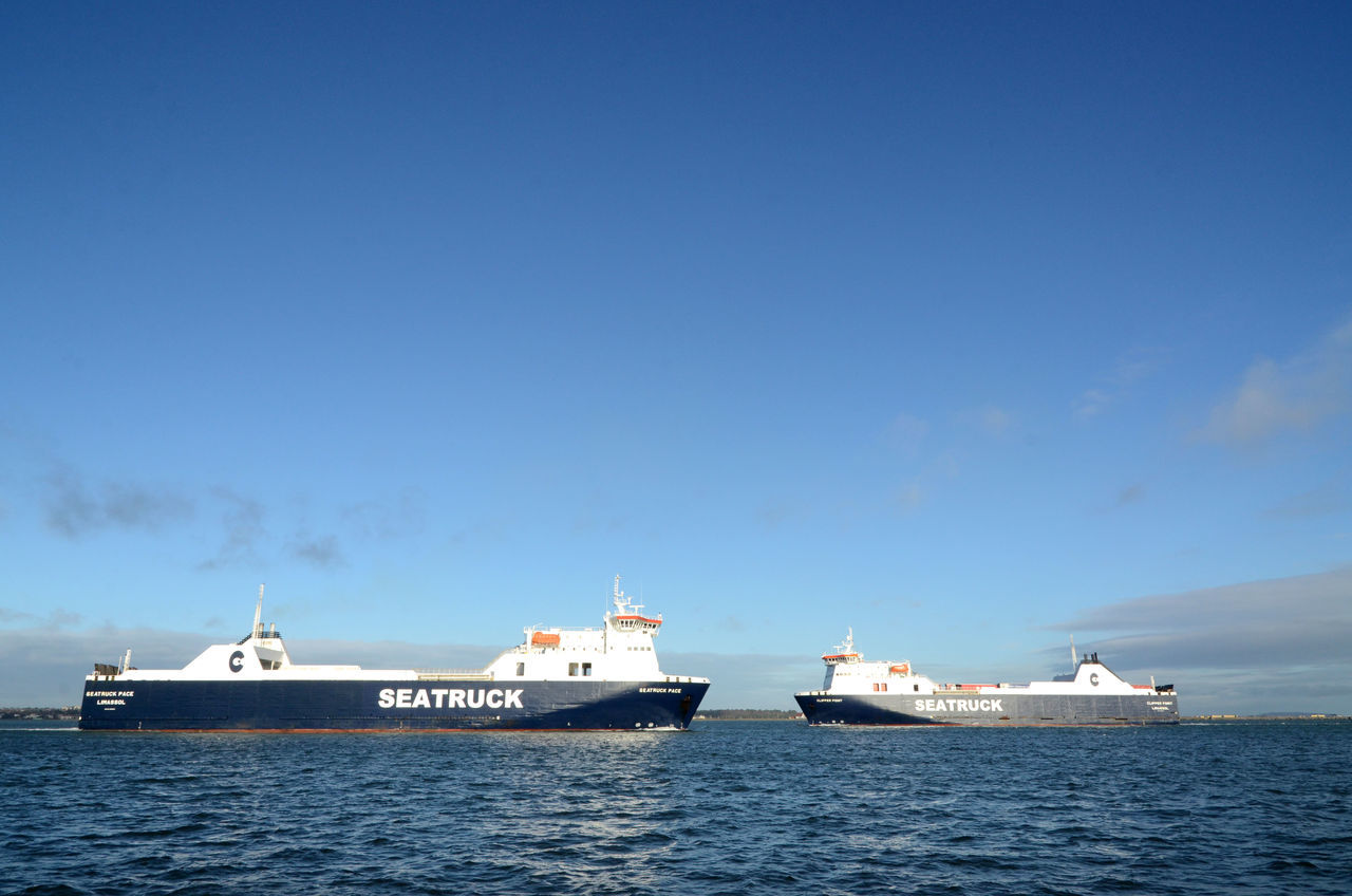 At Sea Blue Freight Transportation Keep Right Nautical Vessel Opposite Directions Sea Seatruck Shipping  Ships Transportation Water