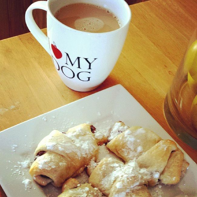 Nutella stuffed croissants and coffee on this cozy fall morning :)