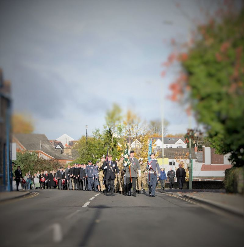 Aberdare Annual Event Armistice Armycadets Cadets Crowd Day Exmilitary Large Group Of People Military Parade People RAFcadets Remembrance Veterans Wales