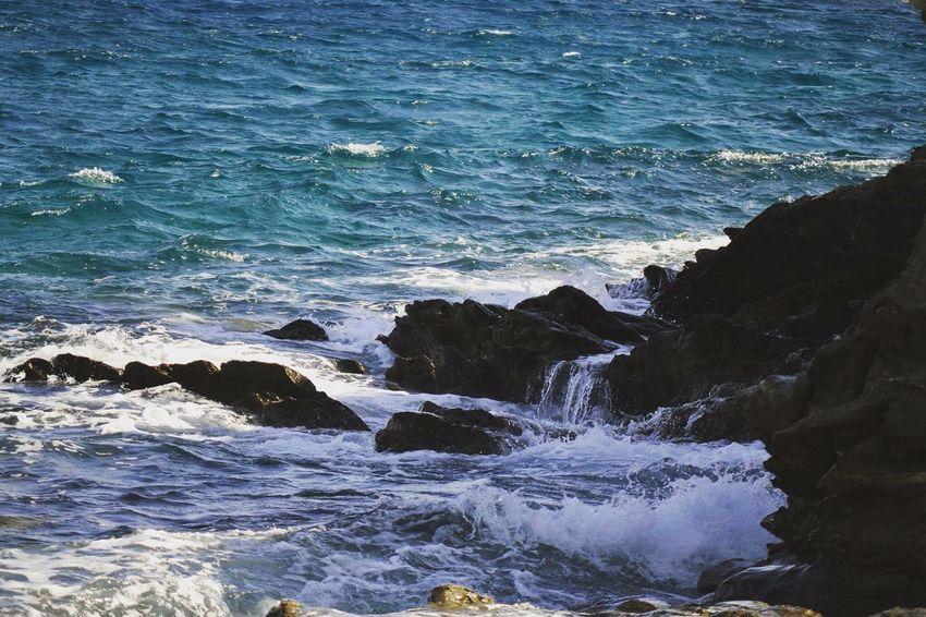 Tzia Kea Greece Island Sea Rocks Blue