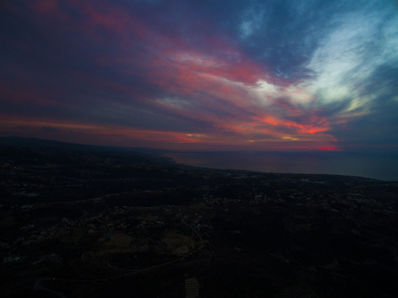 Astronomy Beauty In Nature Bird View City Cityscape Cloud - Sky Drone  Dronephotography Eye4photography  EyeEm Best Shots EyeEm Gallery EyeEm Nature Lover Landscape Nature Night No People Outdoors Scenics Sea Sky Star - Space Sunset Sunset Silhouettes Sunset_collection Tranquility