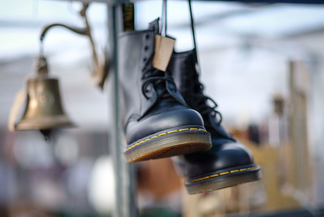Dr Martens Boots!! 56mm Black Boots Dr Martens Boots FUJIFILM X-T1 Fujifilm_xseries Greenwich Hanging Laced Boots London Mark Market Stall Secondhand Urban
