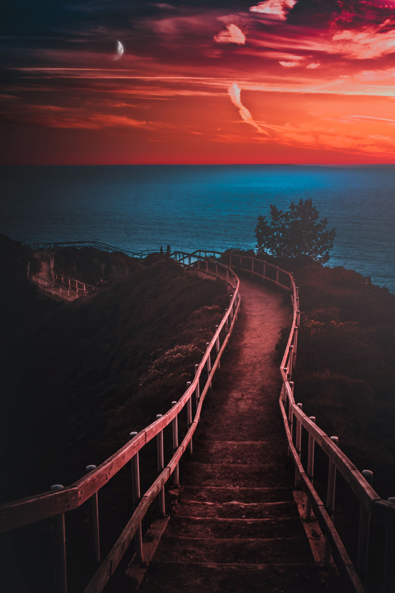 Sea Horizon Over Water Outdoors Scenics No People Night Beauty In Nature Nature EyeEmBestEdits EyeEm Gallery Colors Eye4photography  EyeEm Best Edits EyeEm EyeEm Best Shots Nature Sunset Magic Landscape Water Sun Eyeemphotography Sky Beauty In Nature Colorful
