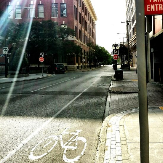 Downtown Winnipeg Bike Lane Street Sunbeam The Street Photographer - 2015 EyeEm Awards The City Light