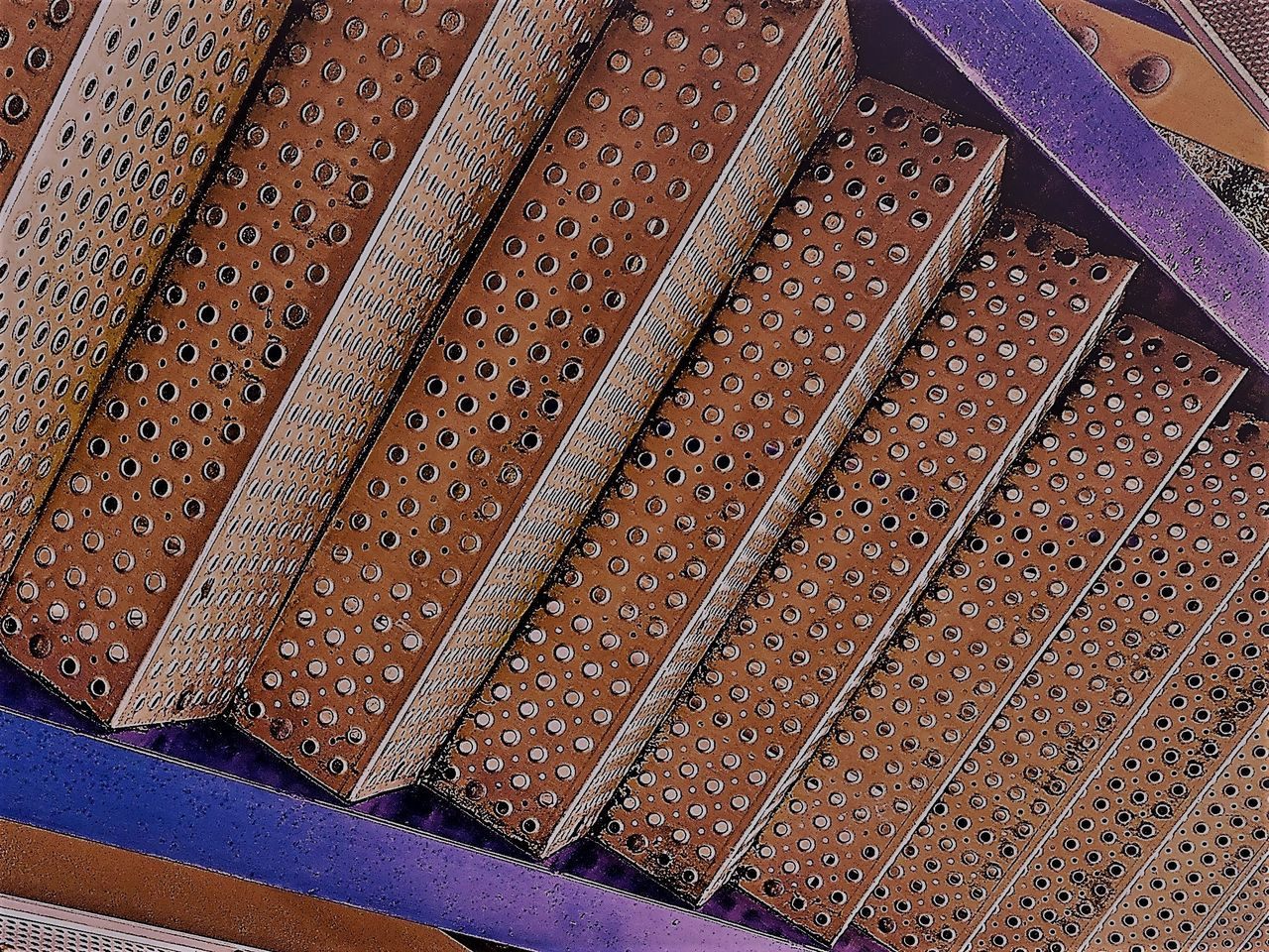 Angles And Lines Steps And Staircases Metal Staircase Metal Art Technology Copper Tones