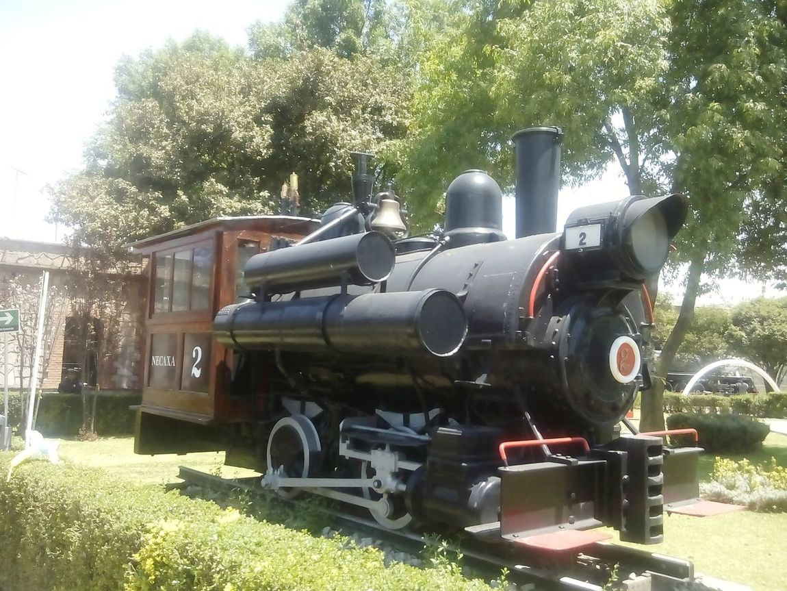 An old Mexican train. Technology Museum Mutec Trains Section Mexico D.F. Train