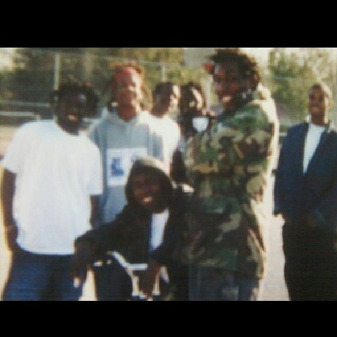 Throwback Camo Soulja Shit in joejames court