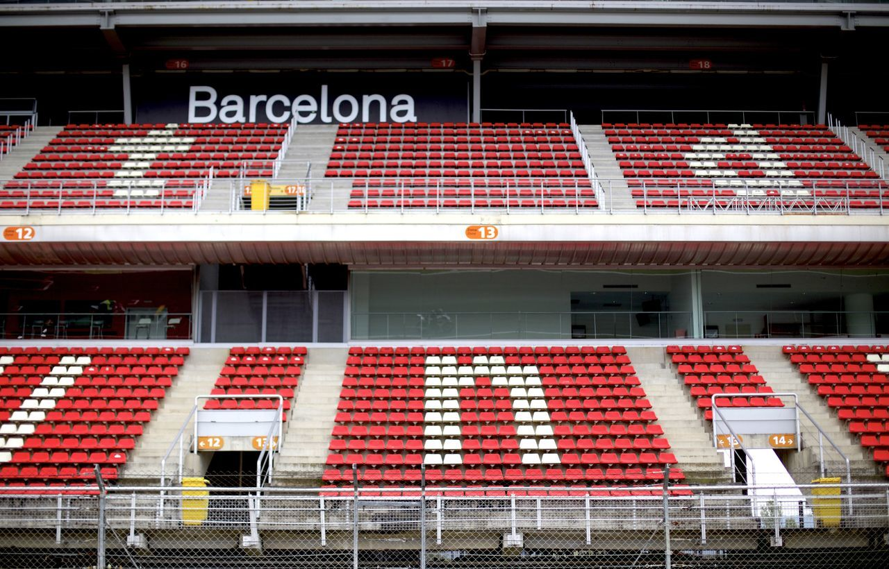 Standstill. Architecture Barcelona Barcelona, Spain Bleachers Circuit De Catalunya Contrast Contrasting Colors Day Low Angle View Motorbikes No People Outdoors Racetrack Red