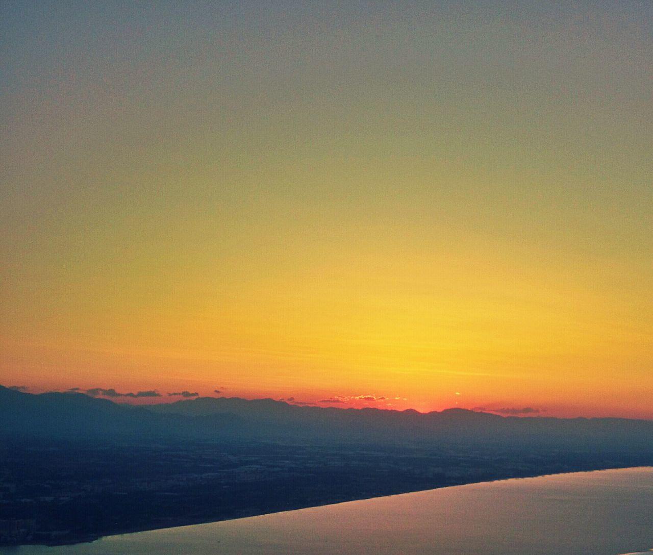 City On Sleep Sea On Sleep The Power Of Sun Warm Light Orange Yellow Blu Tranquility EyeEmNewHere Flying High
